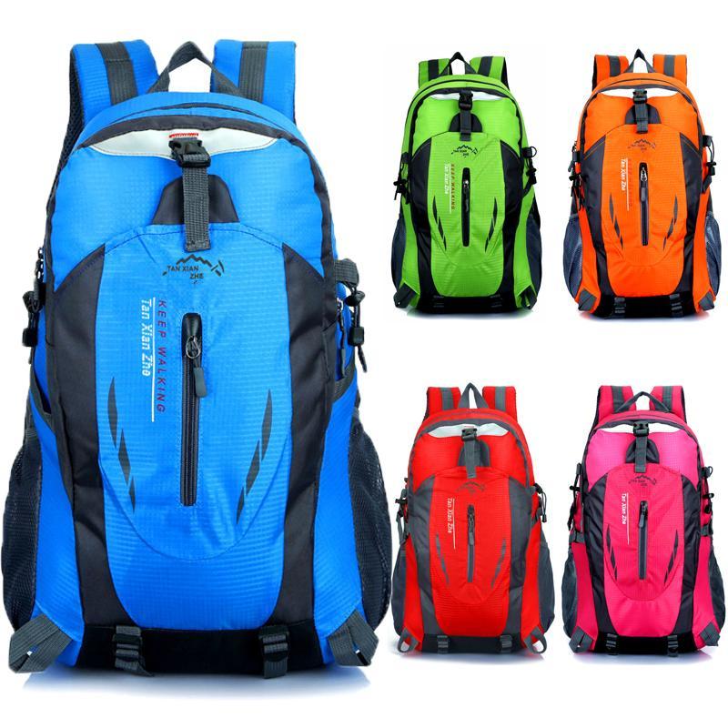 80228788c152 Outdoor Hiking Backpack Waterproof Nylon Men Women Bag Unisex Travel Bag  Mountain Camping Climbing Rucksack Sports Bags UK 2019 From Hineinei