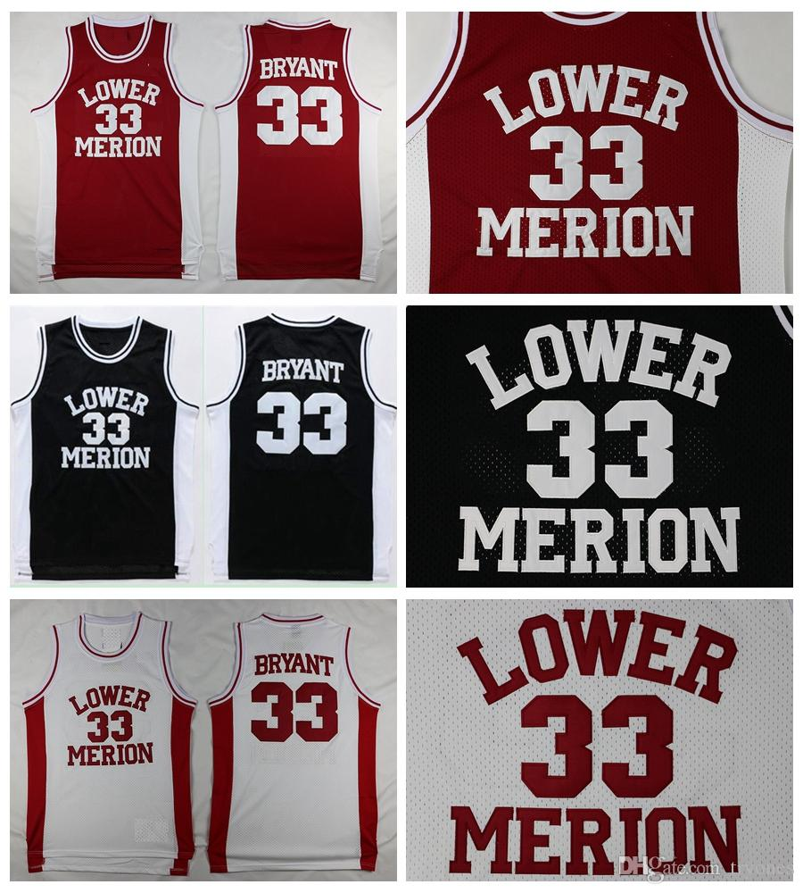 Mens Lower Merion Kobe Bryant 33 High School Basketball Jersey Cheap Red  Black White Kobe Bryant HS Stitched Basketball Shirts S XXL UK 2019 From  Tryones 4173cf692