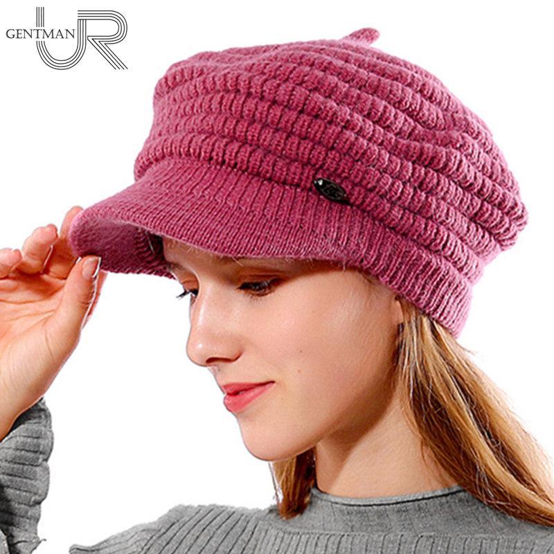 Compre Nuevas Mujeres Sombrero De Invierno Femenino Skullies Calientes  Gorros Textura De Piña Piel De Punto Sombreros Para Mujer Señoras Invierno  Sombrero ... 03eac071606