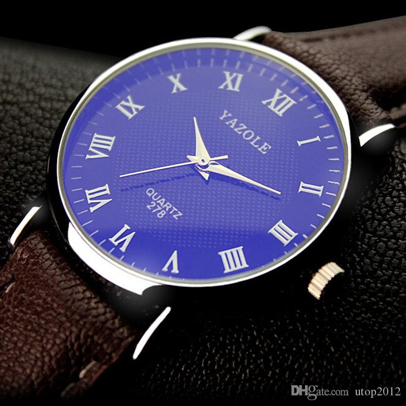 Compre DHL Marca Yazole Reloj Simple Blu Ray Reloj De Cuarzo Analógico  Escala Tendencia Moda Negocio Reloj Relojes Hombre Relogio Masculino 278 A   2.44 Del ... 216601f4ba07