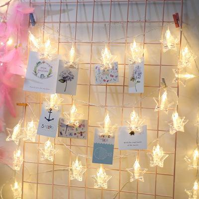 76f86c81b1f Compre 10 20 Tarjeta LED Clip De Fotos Luces De Cuerda Con Pilas Guirnalda  Fiesta De Cumpleaños De Navidad De La Boda Decoración De San Valentín A   36.9 Del ...