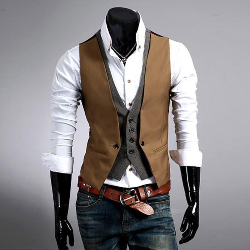 Acquista Gilet Da Uomo 2018 Moda Mens Suit Gilet Mens New Arrival Fitted  Leisure Gilet Casual Business Gilet Uomo Gentleman Tops A  22.74 Dal Bida  Jany ... 332cb7936c0