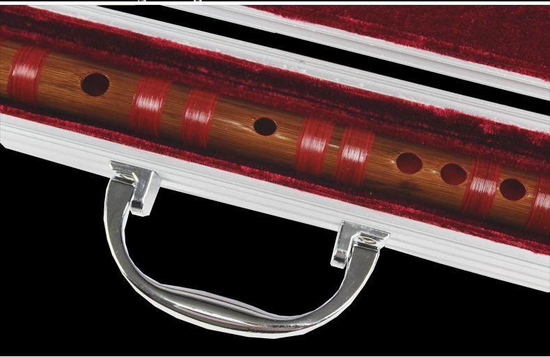 B001 Caja de metal para Dizi completo sin cobre, flauta de bambú china, estuche fuerte