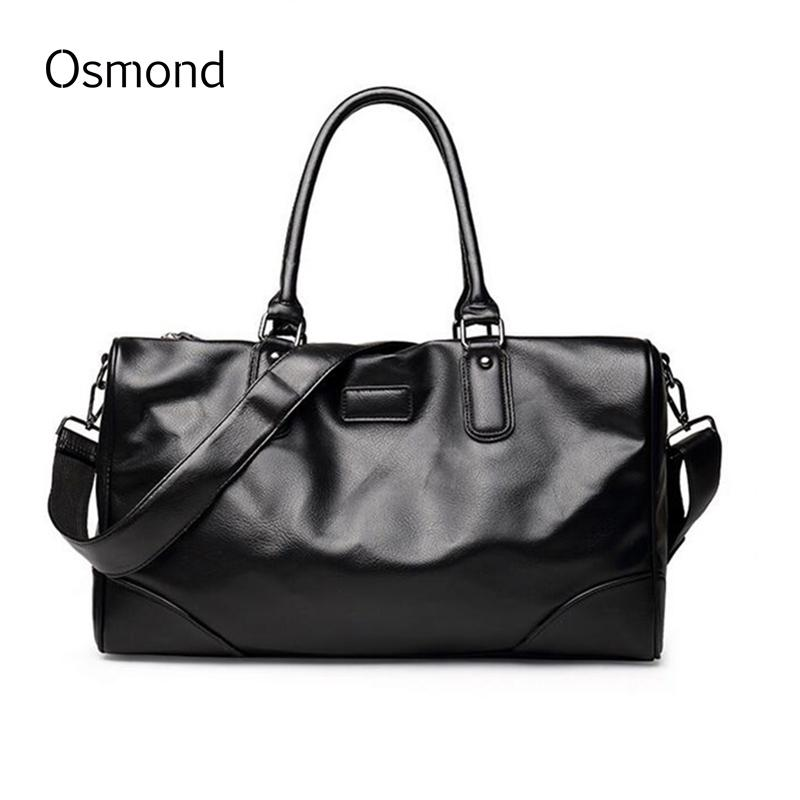Osmond New Fashion Men Handbag Travel Bag Large Capacity PU Leather Tote Bag  Crossbody Duffle Shoulder Bags For Men Bag Large Capacity Travel Bag Bag  Large ... 3188340df0