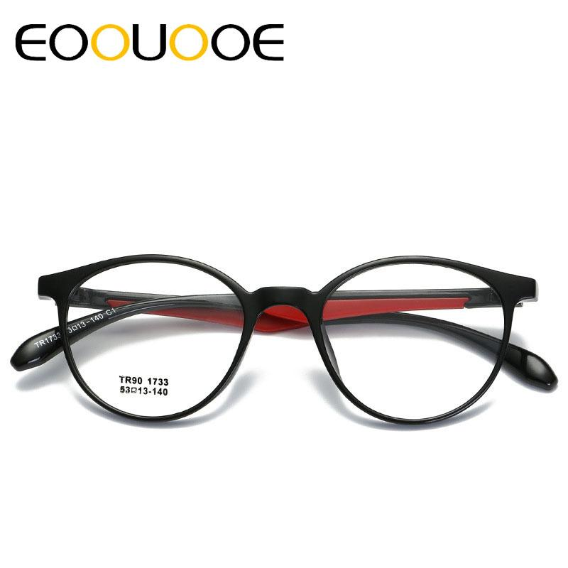 f5c555b03f EOOUOOE Women Round Frame Dichroic Design Black Red Gafas Spectacles ...