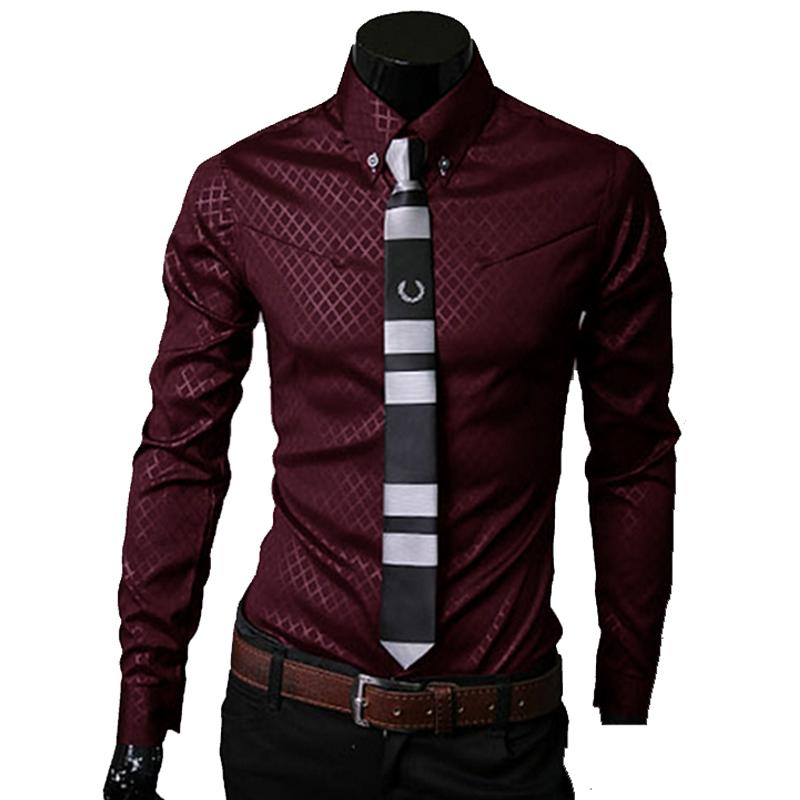 Men Plaid Shirts Brand 5XL New Men S Solid Dress Shirts Long Sleeve Fit Slim Casual Black White Social Male Clothes Chemise Homme