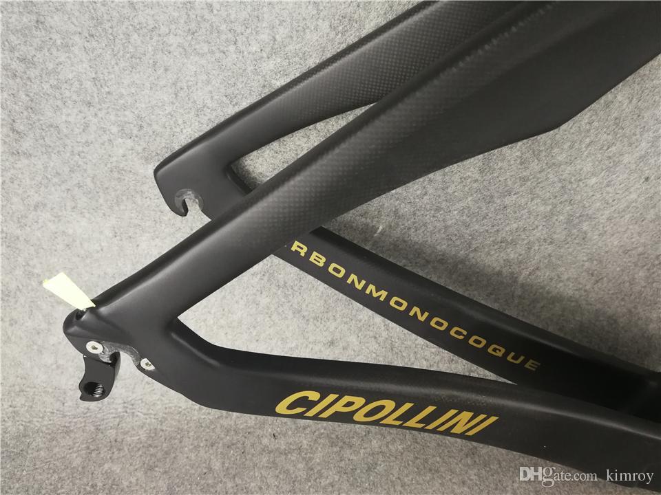 Matte Glossy Gold Cipollini RB1K DIE EINS Carbon Rahmen Rennrad Frameset Vollcarbon Rennrad Rahmen gesetzt