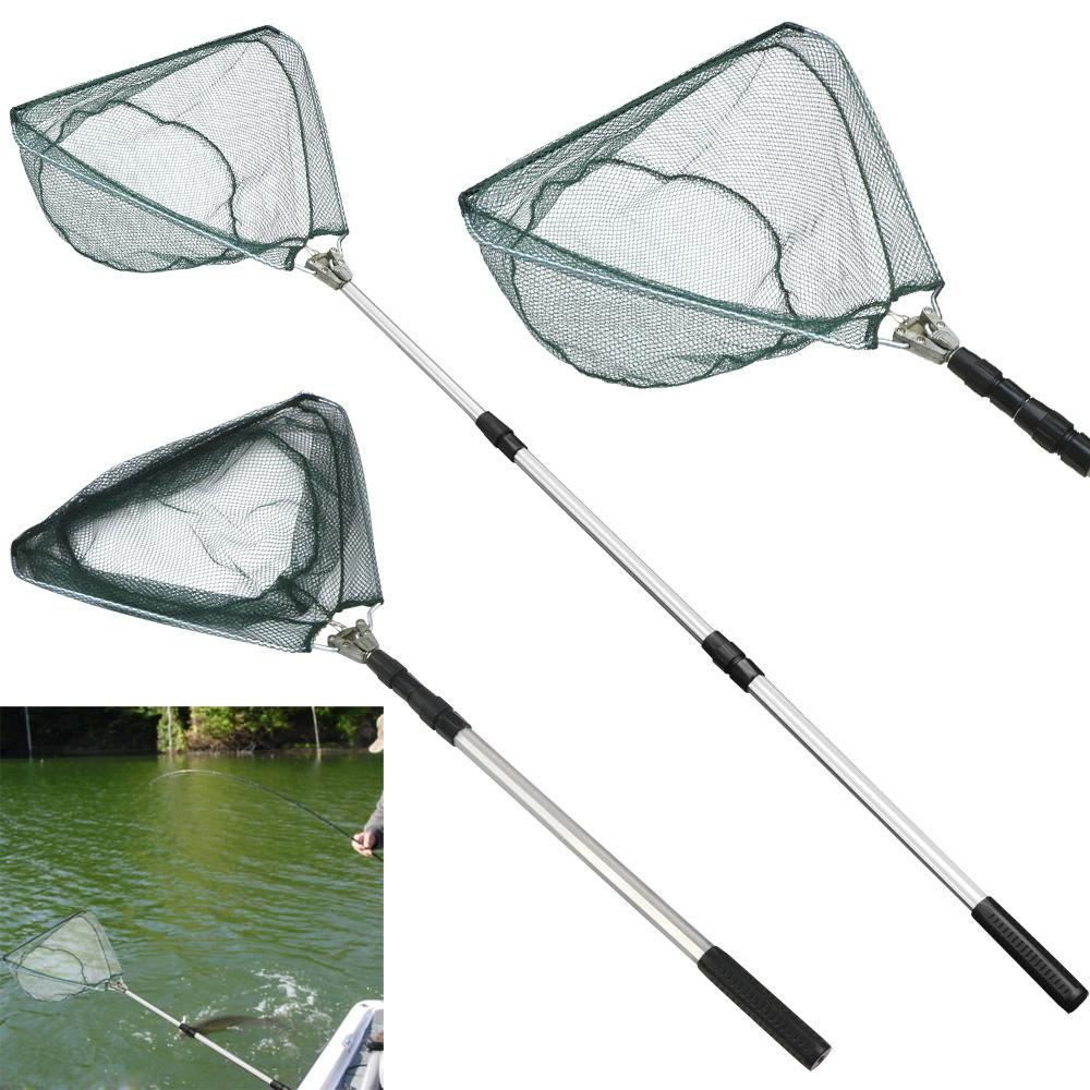 Telescopic Fishing Landing Net Rod Adjustable Foldable Pole Fish Catch Release