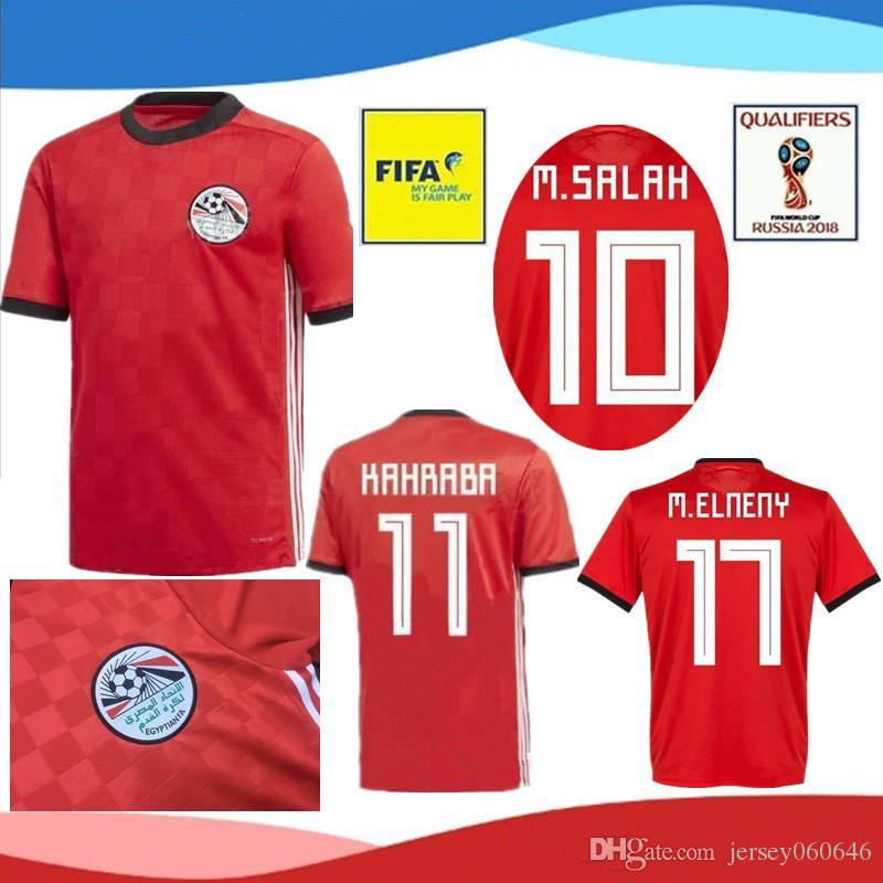 52785674e74 2018 2019 Egypt soccer jersey M. SALAH world cup Home Red 1819 KAHRABA A.  HEGAZI RAMADAN national team uniforms jerseys footbal shirts