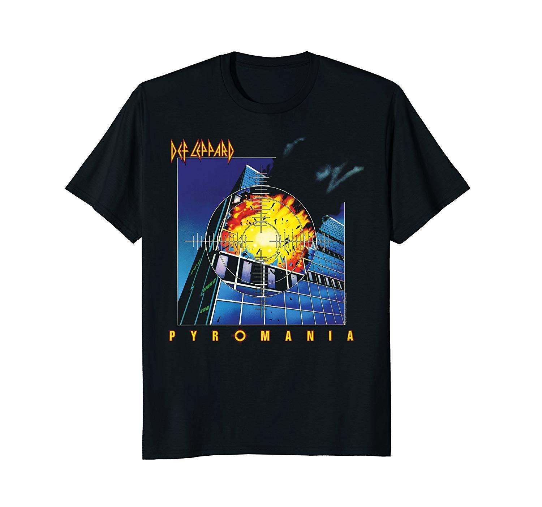 Def Leppard T-shirts Hysteria T-shirt Hohe QualitäT Und Preiswert