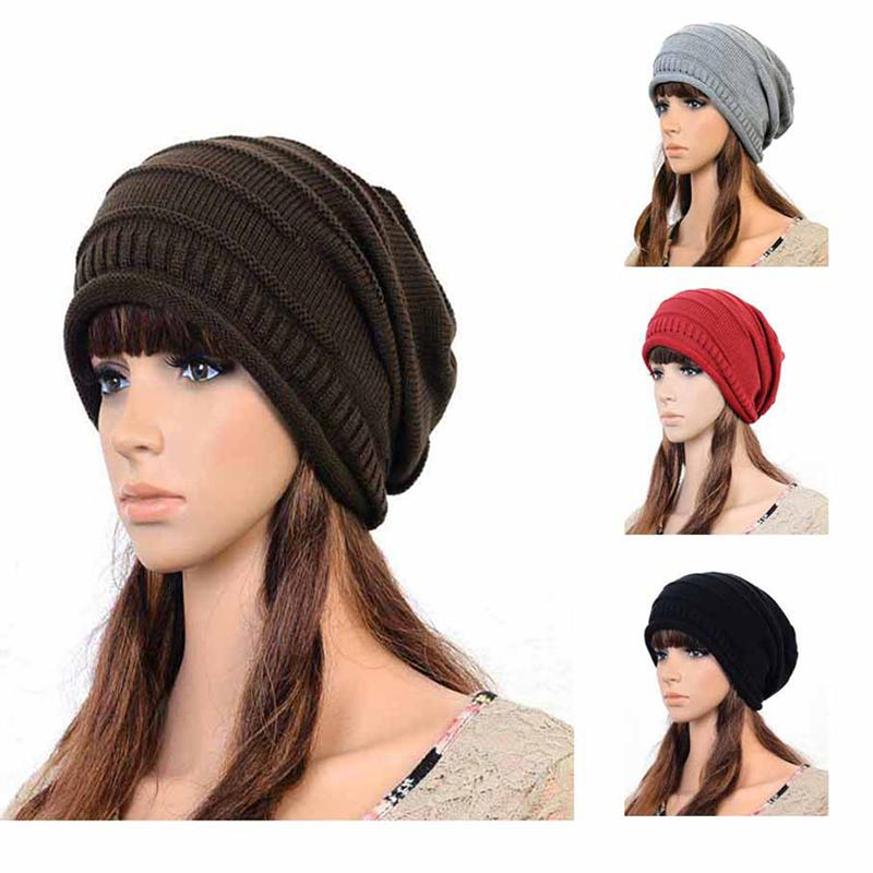 Knit Oversized Baggy Beanie Hat Unisex Stylish Autumn Winter Warm Ski Hip  Hop Cap Womens Mens Fashion Casual Hat New Beanie Hats For Women Beanies  For Women ... cf418f3130c