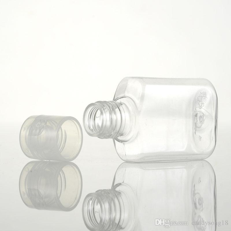 kapak F413 ile 20 ml plastik şişe çevirme kelebek kapak şişe sıvı şişe, 20cc kozmetik losyon PET şişeler konteyner