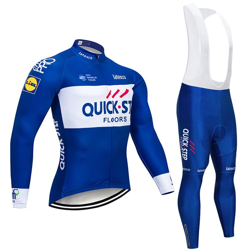 2018 Blue Quick Step Cycling Jersey Bike Pants Set Ropa Ciclismo ... 5a0e3cf7b