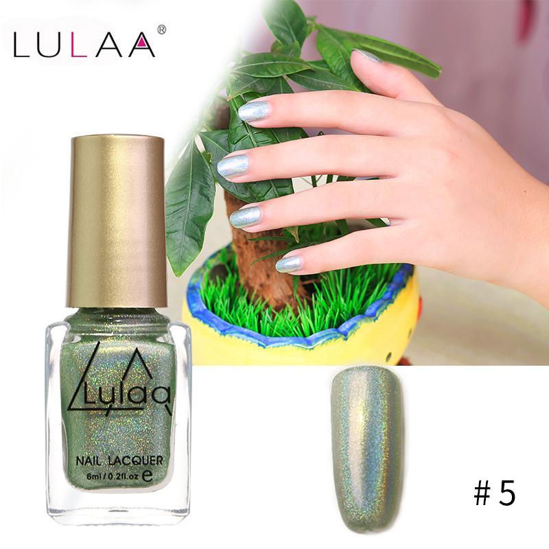 LULAA 6ml Chameleon Color Changing Nail Polish Holographic Laser ...