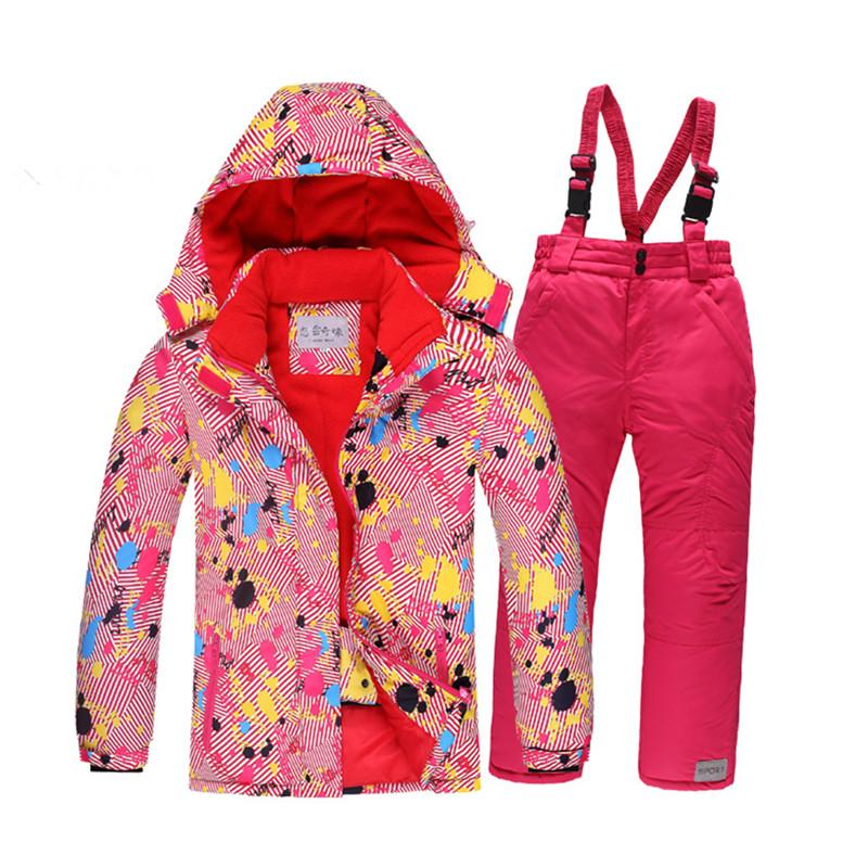 0019aee48 30 Children s Snow Suit Jacket Ski Suit Set Outdoor Gilr   Boy ...