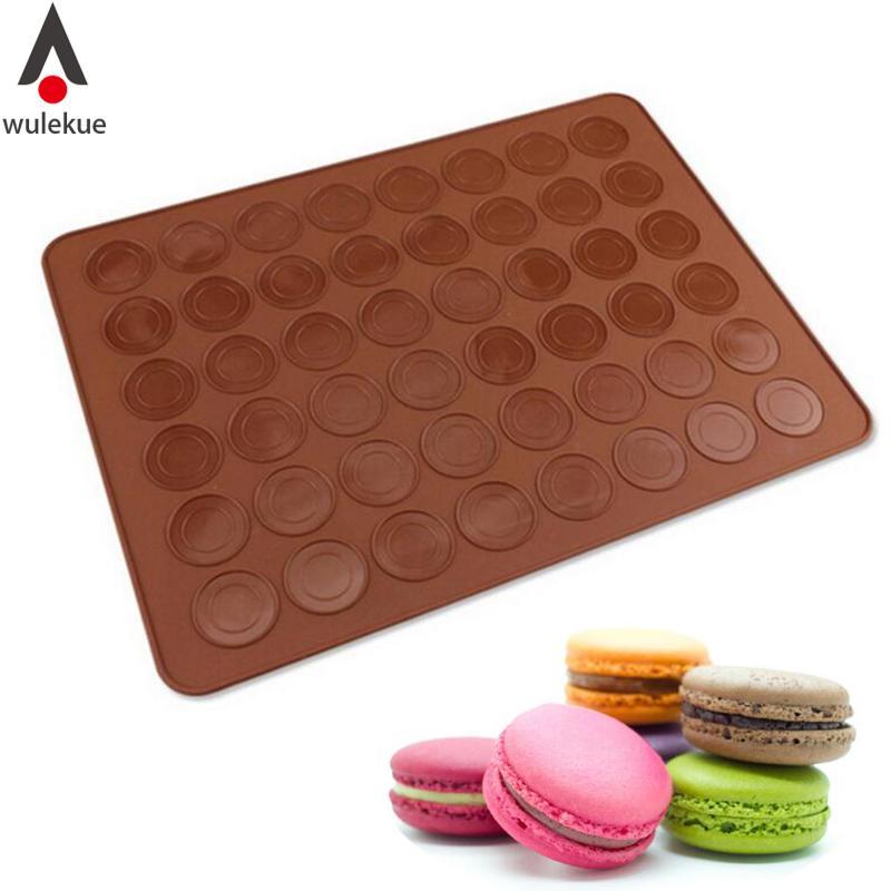 Baking Trays Cookware, Dining & Bar Professional Sale Macaroon Decorating Flexible Baking Mat Cake Muffin Pastry Sheet