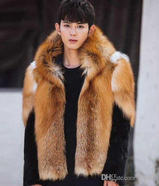 Abrigos de piel de zorro para hombre