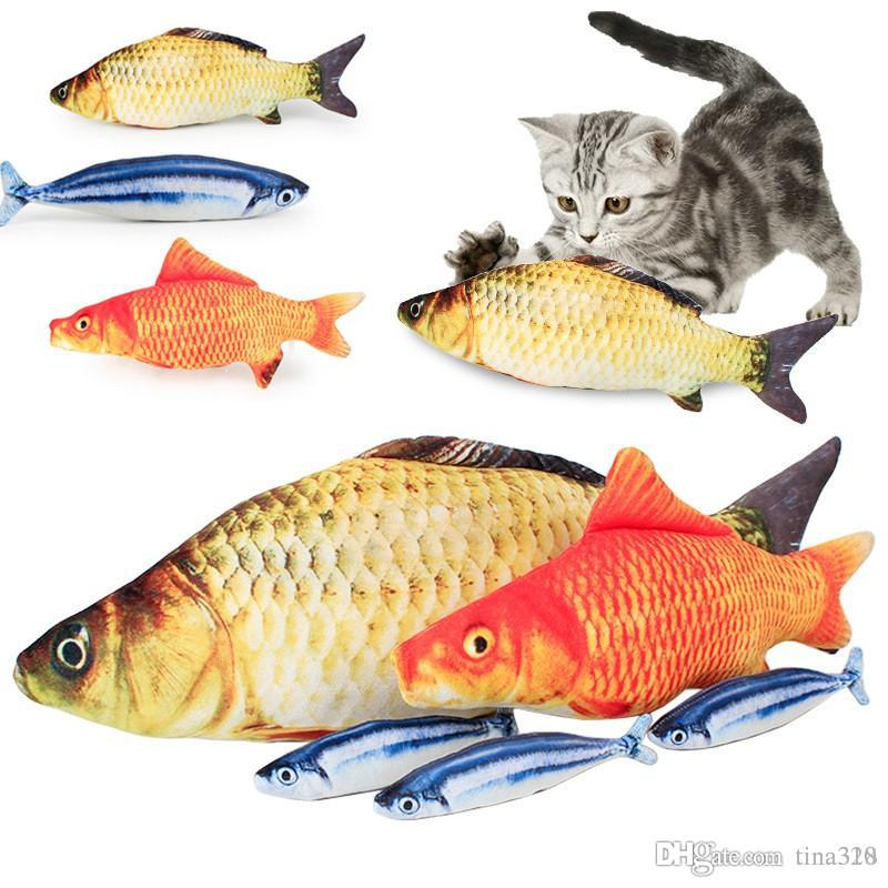 fc62b5ab88d5 Simulation Plush Cat Fish Toys Funny Fish Cat Pillow Plush Toy Cat Fish  Cotton Pet Toy IC744 Kitty Cat Toys Large Cat Toys From Tina328, $1.56|  DHgate.Com