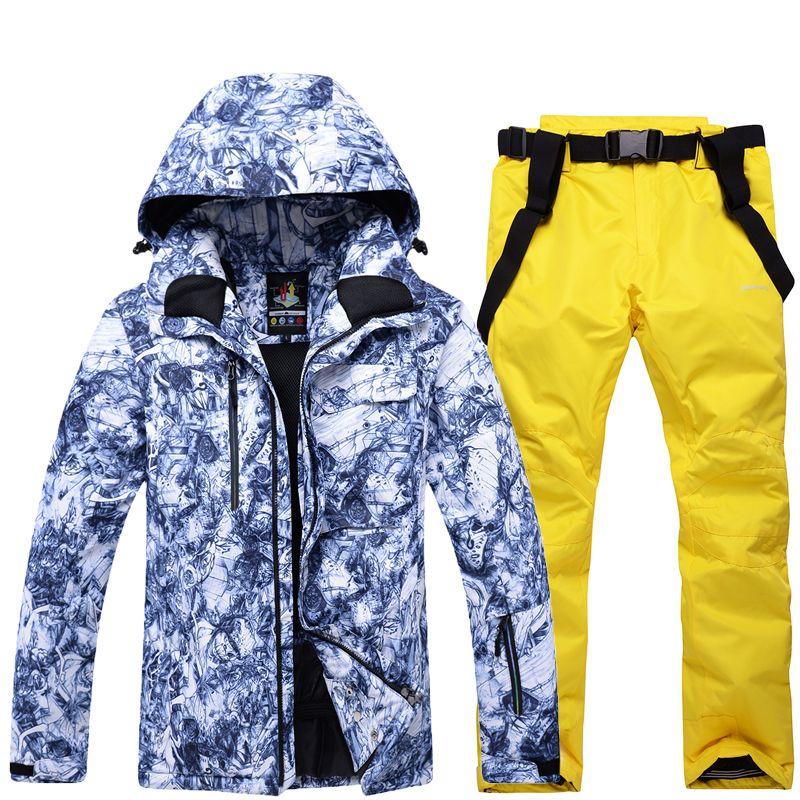 c140accbeb 2019 Winter New 2018 Adult Outdoor Ski Suit Men And Women Ski Pants  Waterproof Windproof Warm Thick Jacket Couple Mountaineering Suit From  Pekoe, ...