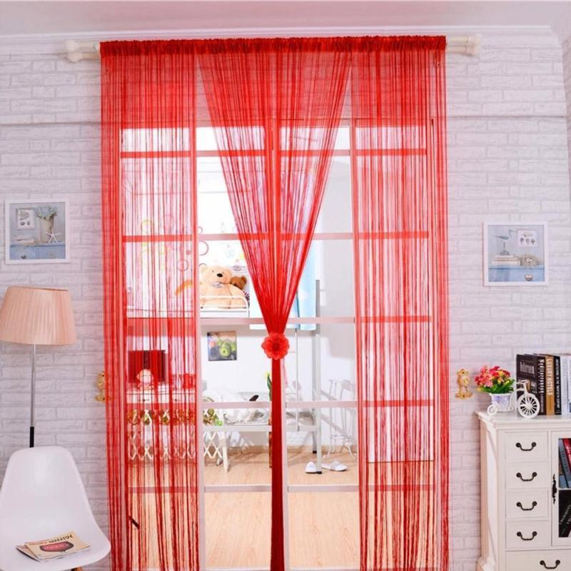 2018 Modern Tulle Curtain Window Door Blackout Sheer Home Decorative ...