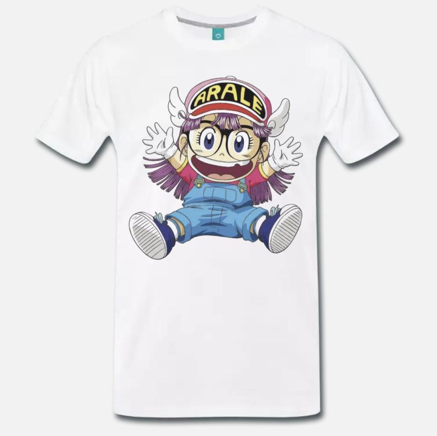 Shirt Acquista Arale DrSlump Anime Cartone 80 Stampa T Anni Maglia WEDY2eIH9