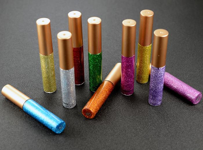 새로운 메이크업 handaiyan 반짝이 액체 아이 라이너 펜 10 색 아이 섀도우 라이너 샤인 금속