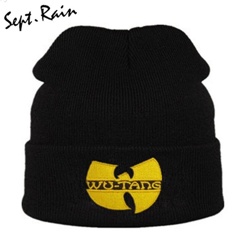 83b07c8b2 High Quality WU TANG CLAN Men s Hats Unisex Winter Warm Casual Beanie Hat  Women Hip Hop Black Knitted Bonnet Ski Gorros Toca