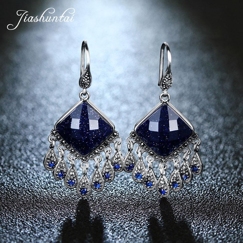 41a6976bc 2019 JIASHUNTAI Silver Earrings Vintage Peacock Dangle Earrings Retro 925 Sterling  Silver Jewelry For Women From Viulue, $46.29 | DHgate.Com