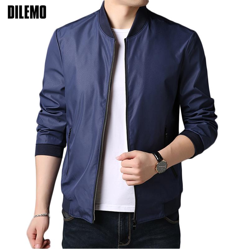 1d99d424ab 2018 New Fashion Brand Clothing Jacket Men Casual Anti Pilling Mandarin  Collar Mens Coat Solid Color Mens Jackets And Coats Designer Leather  Jackets Avirex ...
