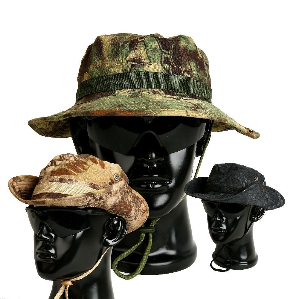 Compre Gorros De Camuflaje Táctico Gorras Fuerzas Especiales Fuerzas  Militares Bonnie Sombreros SWAT Francotirador Cazador Pescador Pesca Cubo  Sombrero ... fc126c0fa34