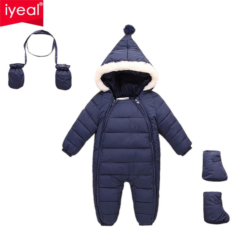 48e3cb1b69ec 2019 IYEAL Down Cotton Baby Rompers Winter Thick Boys Costume Girls ...