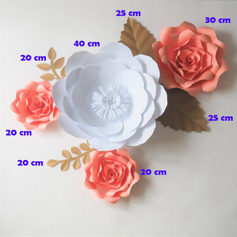 2019 Diy Giant Paper Flowers Backdrop Artificial Handmade Paper Rose