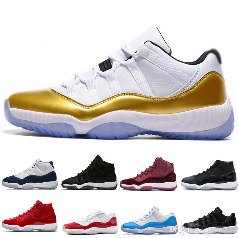 san francisco 244c0 cdaaa Compre Nike Air Jordan Aj11 Nuevo 11 11s Zapatos De Baloncesto Para Hombre  Chicago Gym Red Midnight Navy PRM Heiress Gamma University Azul Bred  Concords ...