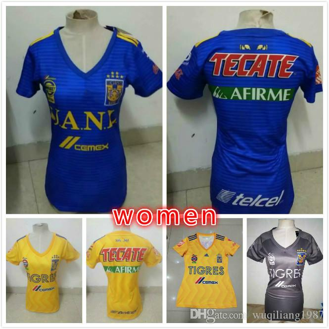 4952cc71dc9 2019 2018 2019 Tigres UANL WOMEN SOCCER JERSEY 18 19 Tigres UANL GIGNAC  DAMIAN VARGAS ZELARAYAN HOME AWAY Woman BEST QUALITY From Wuqiliang1987
