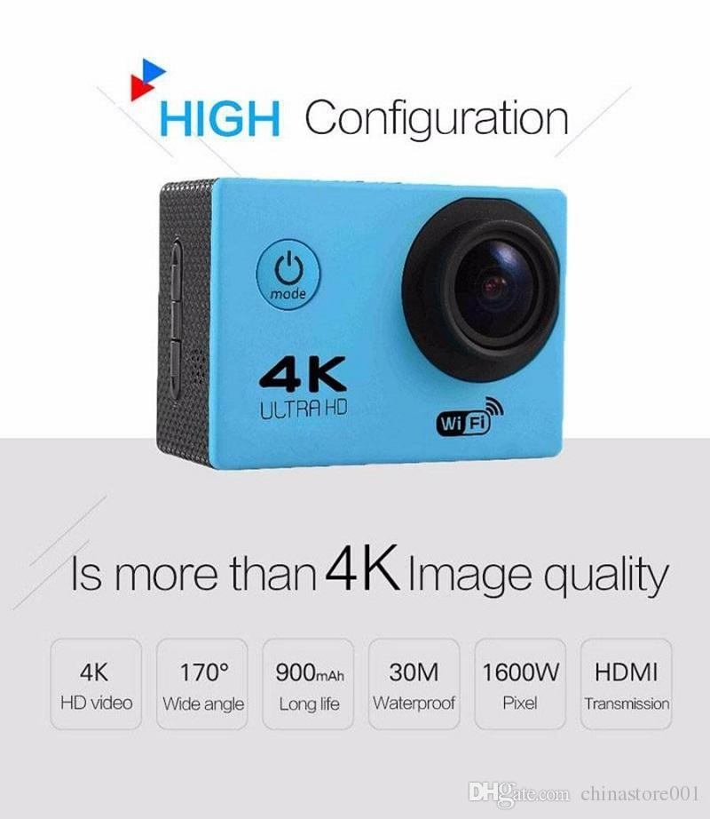 4K Waterproof Action Camera F60R WIFI 2.4G Wireless Remote Control Video Cameras 16MP/12MP 4K 30FPS Diving Recorder High Quality