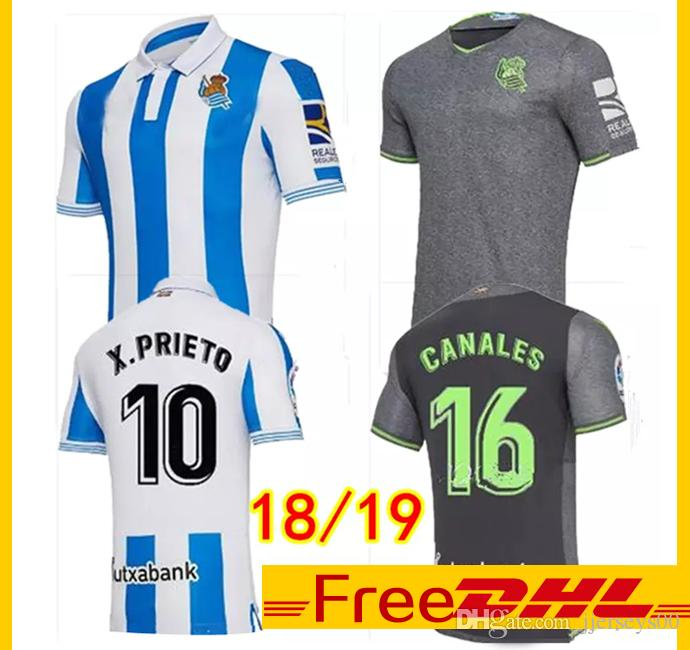 368024cc5 DHL Free Thai Quality 2018 19 Real Sociedad Soccer Jerseys Outdoor T ...