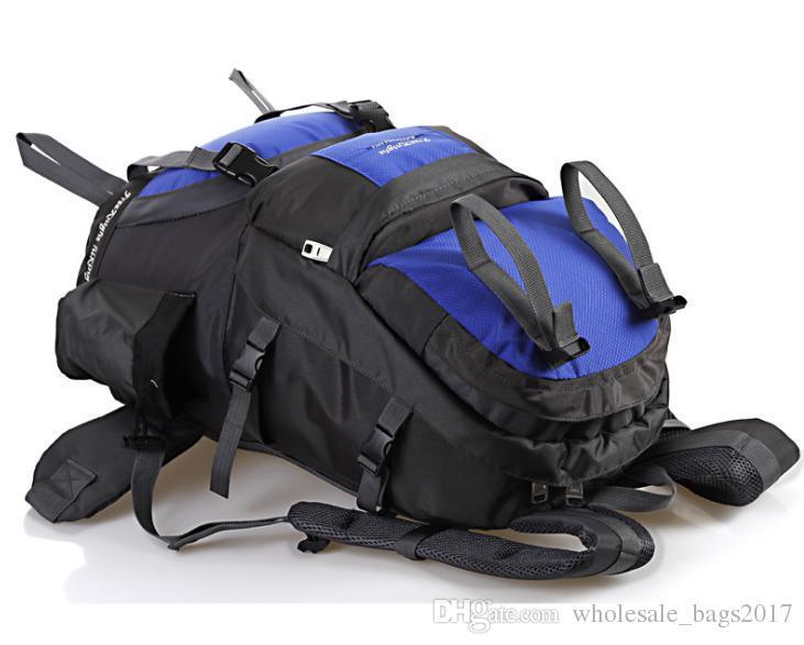 Açık Spor Sırt Çantası Büyük Kapasiteli 50L Naylon Su Geçirmez Omuz Çantası Bisiklet Sırt Kamp Seyahat Çantaları Nedensel Sırt Çantaları