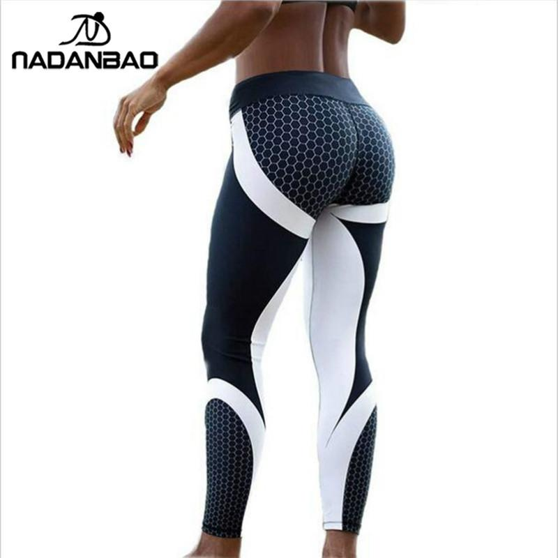 048e7535ea 2019 NADANBAO New Arrival Pattern Leggings Women Printed Pants Work Out  Sporting Slim White Black Trousers Fitness Leggins From New11, $12.65 |  DHgate.Com
