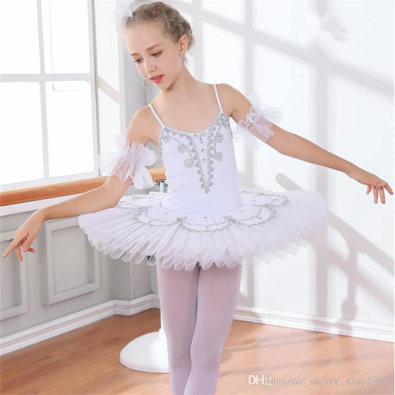 c9dd514b8ae4 2019 Professional White Swan Lake Ballet Tutu Costume Girls Children  Ballerina Dress Kids Ballet Dress Dancewear Dance Dress For Girls 003 From  ...