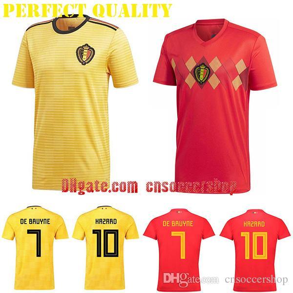 2019 Belgium Soccer Jerseys 2018 2019 S 4XL World Cup Jersey Belgium  Football Shirt Perfect Quality Kit Custom Football Jersey From  Cnsoccershop a81ee046e