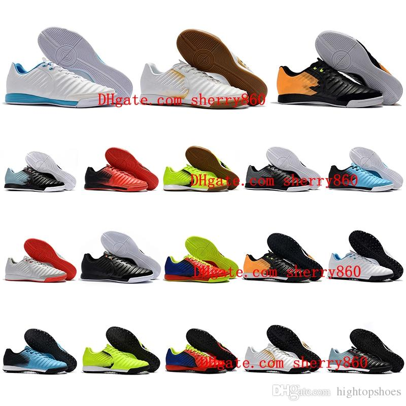 20e7b01755e6 2019 2018 Mens Soccer Cleats Tiempo Ligera IV IC TF TIEMPOX Football Boots  Turf Indoor Soccer Shoes Chuteiras De Futebol TimpoX Finale Leather From ...