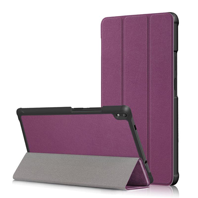 Tri-folding PU Leather Case Flip Cover for Lenovo Tab 4 8 TB-8504F TB-8504N Tab 4 8 Plus TB-8704F TB-8704N Tablet