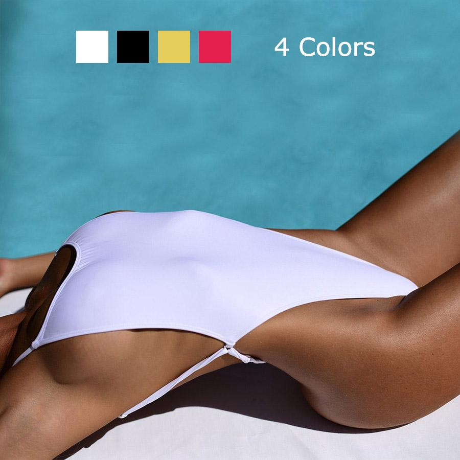 aff3df8868c51 2019 Sexy Thong Swimwear Women One Piece Swimsuit Triangle Backless Bathing  Suit High Cut Out Beach Wear Bodysuit Monokini From Swimwear2016, ...