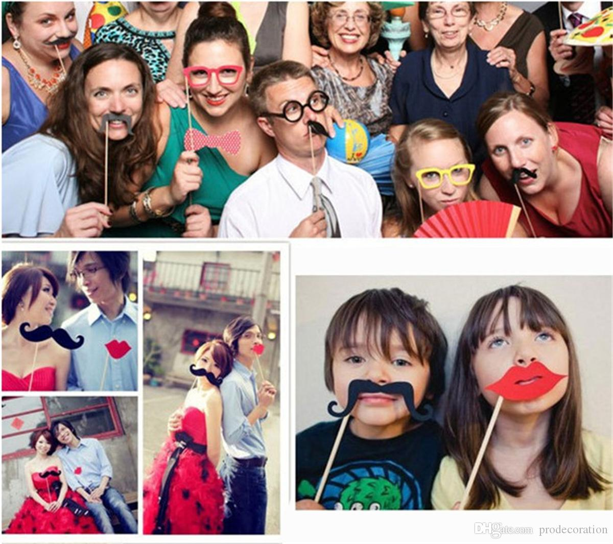 2018 For Christmas Photo Booth Props Photobooth Wedding Favors ...