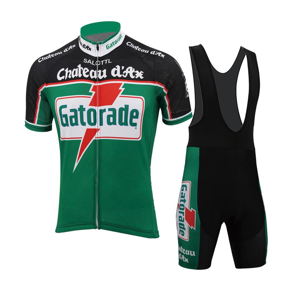 Men Cycling Jersey Set Retro Clothing Bike Wear Road Mountain ... 0ad64f3bb