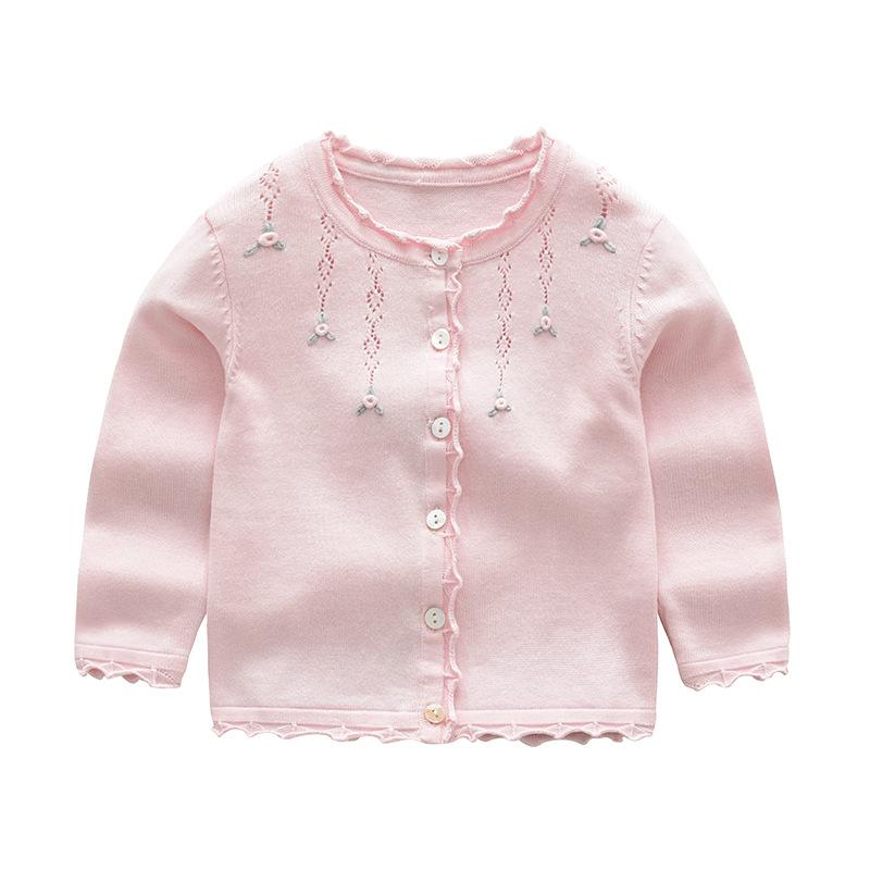 a8ec5f0fda5 Baby Girls Cardigan Coat Children Sweater Pullover Spring Autumn Long  Sleeve Knit School Girl Pink Red Gray Sweater Sweater Design Patterns For  Kids Toddler ...