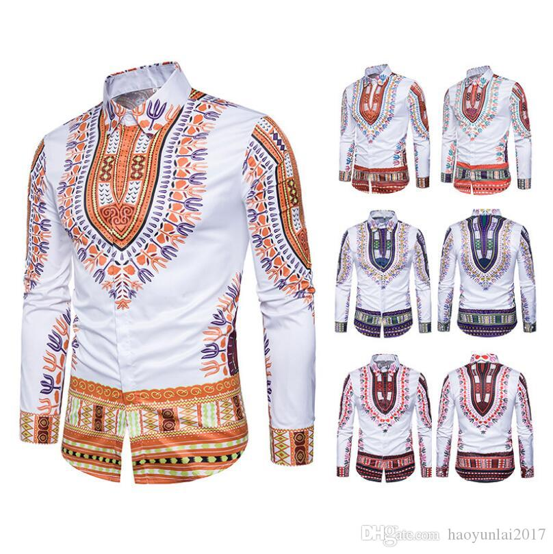 a7009f51ed5 2019 New National Africa Clothing Fashion Shirts Men African Dresses Hip  Hop Dashiki Casual African Clothes Asian Size From Haoyunlai2017