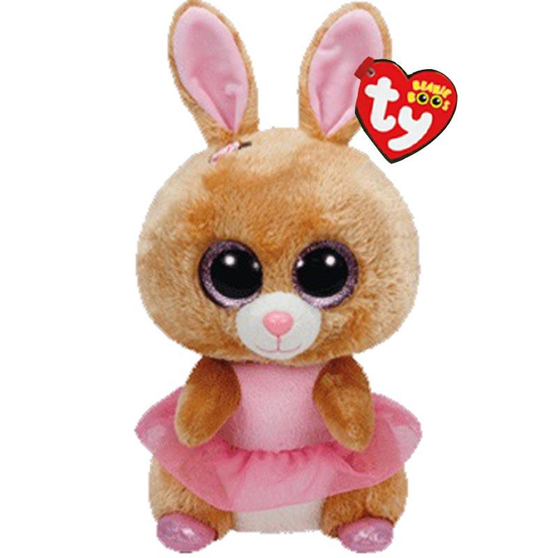 43cf6ba8359 2019 Ty Beanie Boos Cute Animals Yellow Rabbit Plush Toy Doll Bunny With  Tag 6 15cm From Cornemiu