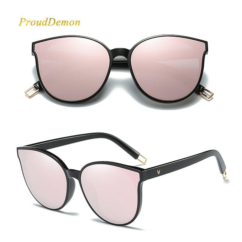 2d3e063ef1 2018 Fashion Women Colour Luxury Flat Top Cat Eye Sunglasses Elegant Oculos  De Sol Men Twin Beam Oversized Sun Glasses UV400 Baby Sunglasses Designer  ...