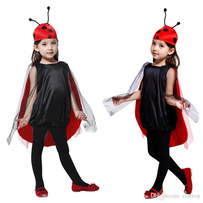Compre Niños Niños Halloween Cosplay Disfraces Para Niñas Insecto Anime  Vestido Con Sombrero Cosplay Ropa Para Niños   Niñas Etapa Show S M L HC38  A  10.97 ... 8e74e95f9ec8